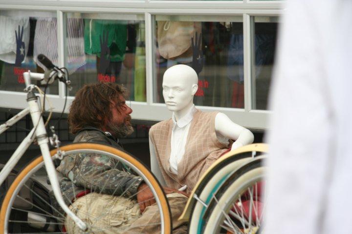 Homeless Casanova Gets Friendly with American Appearel Plastic Siren