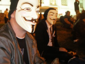 Anonymous at Occupy LA