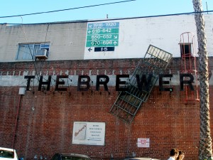 The Brewery Sign