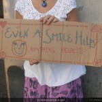 Venice Homeless Smile Sign